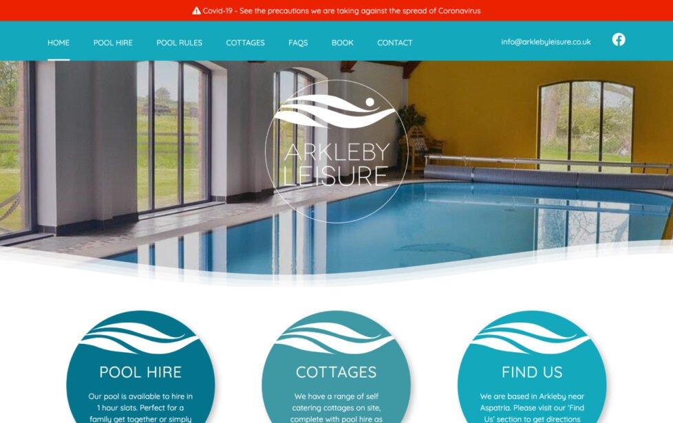 Arkleby Leisure Web Design Desktop